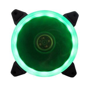 Cooler Fan P/ Gabinete 12CM 1200 RPM BlueCase RING BFR-05G LED Verde