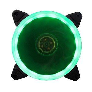 Cooler Fan P/ Gabinete 12CM 1200 RPM BlueCase RING BFR-05G LED Verde