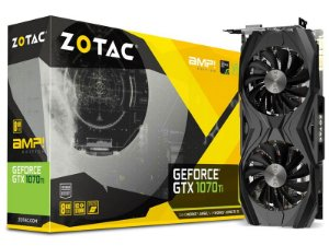 Placa de Vídeo Geforce GTX 1070TI AMP Edition 8GB GDDR5 - 256 Bits ZOTAC - ZT-P10710C-10P