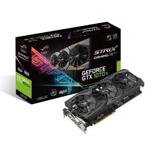 Placa de Vídeo Geforce GTX 1070TI 8GB ROG STRIX GDDR5 - 256 Bits ASUS GTX1070TI-A8G-GAMING
