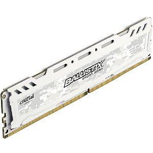 Memória Crucial Ballistix Sport LT 8GB 2400Mhz DDR4 CL16 White - BLS8G4D240FSC (1X8GB)