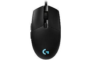 Mouse Gamer Logitech Pro Gaming Com Fio USB e 12.000 DPI