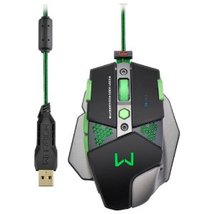 Mouse Gamer Multilaser Warrior 4000DPI + Função Macro Led´s Multimídia - MO249