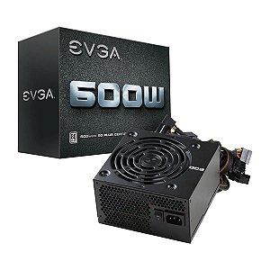 Fonte ATX 600 Watts Potência Real C/ PFC Ativo Bivolt Automático EVGA 80% Plus White - 100-W1-0600-K1