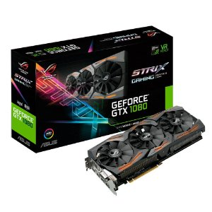 Placa de Vídeo Geforce GTX 1080 STRIX GAMING 8GB OC GDDR5 - 256 Bits ASUS - STRIX-GTX1080-A8G-GAMING