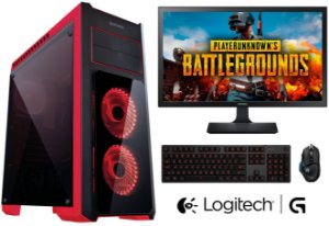 PC Gamer Completo Intel Core I5 Kaby Lake 7500, 16GB DDR4, SSD 120GB, HD 1TB, Geforce GTX 1060 G1 6GB, Monitor LED 23 Polegadas, Teclado e Mouse Gamer Logitech