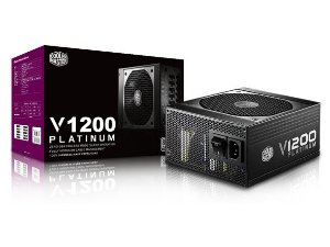Fonte ATX 1200 Watts Potência Real Modular C/ PFC Ativo, Bivolt Automática, Certificação 80% Plus Platinum - Cooler Master V1200W - RSC00-AFBAG1
