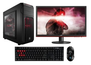 PC Gamer Super Completo Intel Core I5 Coffee Lake 8400, 8GB DDR4, HD 1 Tera, Geforce GTX 1050TI OC 4GB, Monitor Gamer 24, Teclado e Mouse Gamer