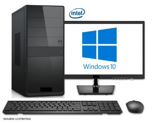 (Recomendado) Computador Completo Home Pro Intel Pentium Kaby Lake G4560, 8GB DDR4, HD 1 Tera, Monitor LED 21.5, Teclado e Mouse USB