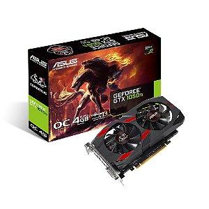 Placa de Vídeo Geforce GTX 1050TI OC 4GB GDDR5 - 128 Bits ASUS CERBERUS 90YV0A74-M0NA00