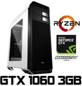 PC Gamer AMD Ryzen 5 1600, 16GB DDR4, SSD 120GB, HD 1TB, Geforce GTX 1060 OC 3GB