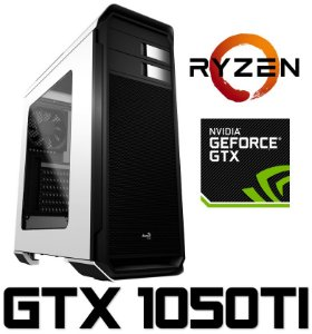 (Recomendado) PC Gamer AMD Ryzen 5 1600, 8GB DDR4, SSD 120GB, HD 1 Tera, Geforce GTX 1050TI 4GB
