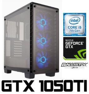 PC Gamer Intel Core I5 Kaby Lake 7400, 8GB DDR4, HD 1 Tera, Geforce GTX 1050TI OC 4GB