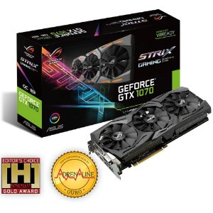 Placa de Vídeo Geforce GTX 1070 OC 8GB GDDR5 - 256 Bits ASUS STRIX-GTX1070-O8G-GAMING 90YV09N0-M0NA0