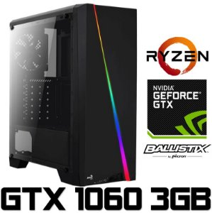 (Recomendado) PC Gamer AMD Ryzen 5 2600, 8GB DDR4, HD 1 Tera, Geforce GTX 1060 OC 3GB