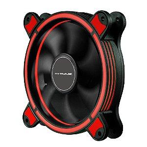 Cooler Fan 12CM P/ Gabinete Mymax Spectrum RING LED Vermelho  MYC/FC-SP12025/RD