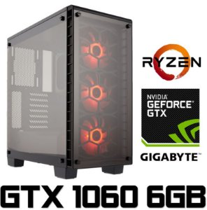 (Recomendado) PC Gamer AMD Ryzen 7 2700, 16GB DDR4, SSD 120GB, HD 1TB, Geforce GTX 1060 OC 6GB