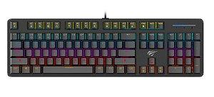 Teclado Gamer Mecânico ABNT2 C/ Iluminação RGB e Switch Brown HAVIT - HV-KB366L