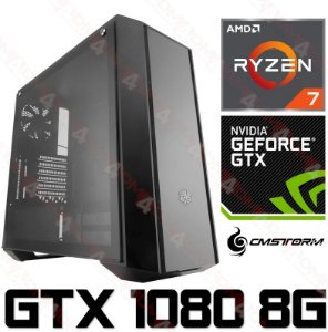 PC Gamer AMD Ryzen 7 2700, 16GB DDR4, SSD 480GB, HD 1TB, Geforce GTX 1080 OC 8GB