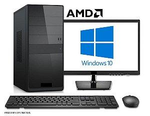 Computador Completo Home Pro AMD Ryzen 3 2200G, 8GB DDR4, SSD 240GB, Wi-Fi, DVD, Monitor LED 19.5, Teclado e Mouse USB