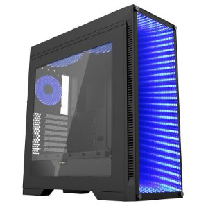 Gabinete ATX Gamer GAMEMAX INFINIT M908 Preto FULL WINDOW Multi Colors, Tampa Lateral de Acrílico, 3 FANS e USB 3.0 Frontal