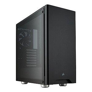 Gabinete ATX Gamer C/ Lateral em Vidro Temperado e USB 3.0 Frontal - Corsair Carbide 275R Black CC-9011132-WW