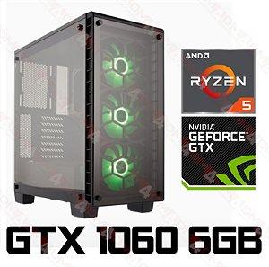 PC Gamer AMD Ryzen 5 2600, 16GB DDR4, SSD 240GB, HD 1TB, Geforce GTX 1060 OC 6GB
