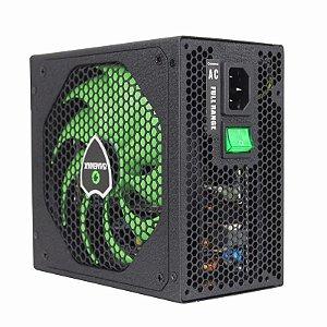 Fonte ATX 500 Watts Potência Real C/ PFC Ativo Bivolt Automático GAMEMAX GM500 Black - 80% Plus Bronze