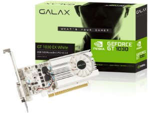 Placa de Vídeo GPU Geforce GT 1030 2GB DDR4 64 BIT GALAX 30NPK4HVS6XW