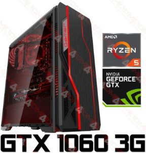 (Super RECOMENDADO) PC Gamer AMD Ryzen 5 2600, 16GB DDR4, SSD 120GB, HD 1 Tera, GPU Geforce GTX 1060 SC 3GB