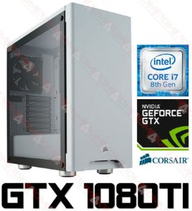 (Recomendado) PC Gamer Intel Core I7 Coffee Lake 8700K, 64GB DDR4, SSD M.2 1 Tera, Wi-Fi, GPU Geforce GTX 1080TI OC 11GB