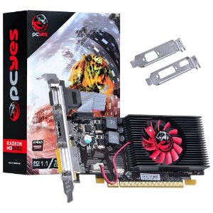 Placa de Vídeo VGA AMD PCYes RADEON HD 5450 1GB DDR3 64Bits (KIT Low Profile) PTYT54506401D3LP