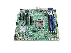 PLACA MAE SERVIDOR INTEL - DBS1200SPSR XEON E3-1200V5/V6 DDR4 UDIMM 2X REDE GBE LGA 1151