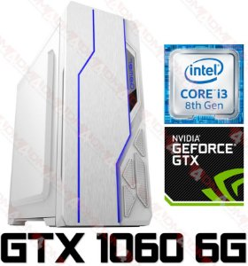 (Recomendado) PC Gamer Intel Core  I3 Coffee  Lake 8100, 8GB DDR4, SSD 480GB, GPU Geforce GTX 1060 OC 6GB