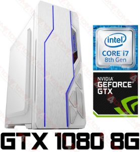PC Gamer Intel Core I7 Coffee Lake 8700K, 16GB DDR4, SSD 480GB, GPU Geforce GTX 1080 SC 8GB