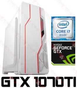 PC Gamer Intel Core I7 Coffee Lake 8700, 16GB DDR4, HD 2 Teras, GPU Geforce GTX 1070TI 8GB