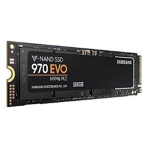 SSD Samsung 970 EVO M.2 2280 500GB NVMe Leituras: 3400MB/s e Gravações: 2300MB/s - MZ-V7E500E
