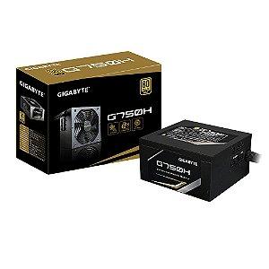Fonte ATX 750 Watts Potência Real C/ PFC Ativo, Modular, Bivolt Automático GIGABYTE G750H - 80% Plus GOLD