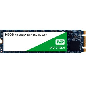 SSD WESTERN DIGITAL Green M.2 2280 240GB Leituras: 545MB/s - WDS240G2G0B