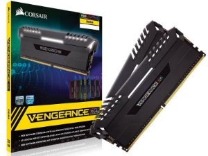 Memória 16GB DDR4 CL16 - 3000 Mhz Corsair Vengeance RGB (2X8GB) BLACK - CMR16GX4M2D3000C16