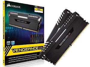 Memória 16GB DDR4 CL16 - 3000 Mhz Corsair Vengeance RGB (2X8GB) BLACK - CMR16GX4M2D3000C16