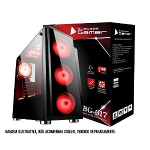 Gabinete Bluecase Gamer BG-017 C/ Tampa Lateral em Vidro e USB 3.0 Frontal e LED Personalizavel sem Fonte