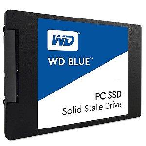 SSD WESTERN DIGITAL Blue 2.5´ 1TB SATA III 6Gb/s Leituras: 560MB/s e Gravações: 530MB/s - WDS100T2B0A