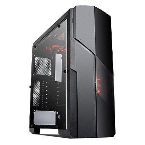 Gabinete ATX GAMER GALAXY BLACK/RED C/ Tampa de Acrílico Lateral e USB 3.0 FRONTAL MYMAX MCA-FC-GA11A/RD