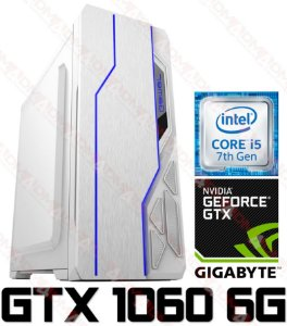 (Recomendado) PC Gamer Intel Core I5 Kaby Lake 7400, 16GB DDR4, SSD 120GB, HD 1TB, GPU GEFORCE GTX 1060 OC 6GB