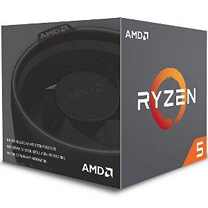 Processador AMD Ryzen 5 2600X c/ Wraith Spire Cooler, Six Core, Cache 19MB, 3.6GHz (Max Turbo 4.25GHz) AM4 - YD260XBCAFBOX