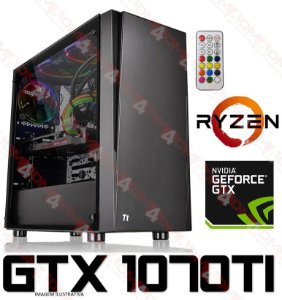(Recomendado) PC Gamer AMD Ryzen 5 2600X, 16GB DDR4, SSD M.2 120GB, HD 1TB, GPU GEFORCE GTX 1070TI OC 8GB