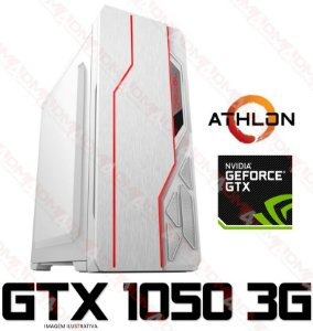 (Recomendado) PC GAMER AMD ATHLON 200GE, 8GB DDR4, SSD 240GB, GPU GEFORCE GTX 1050 3GB