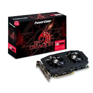 Placa de Vídeo GPU AMD RADEON RX 580 OC 8GB GDDR5 - 256 BITS POWER COLOR RED DRAGON - 8GBD5-3DHDV2/OC