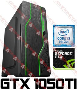 PC Gamer Intel Core I3 Coffee Lake 8100, 8GB DDR4, HD 1 Tera, GPU GEFORCE GTX 1050TI 4GB